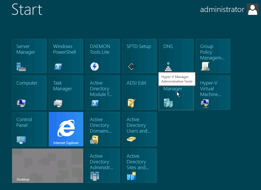 start menu windows server 2012