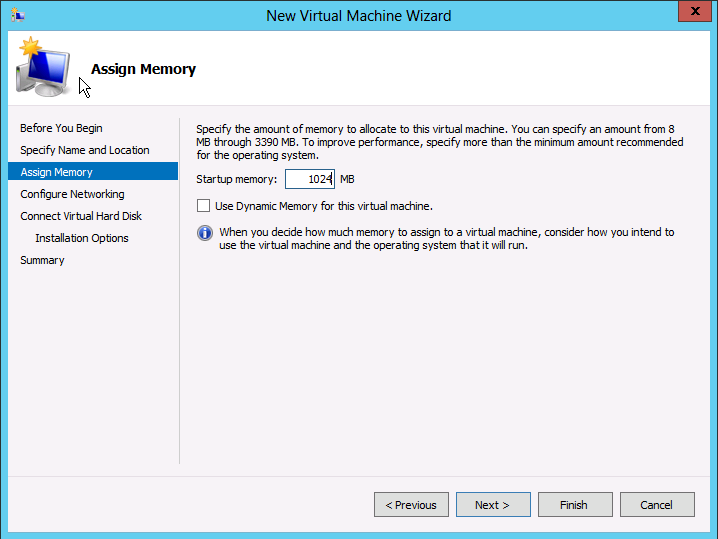 Machine virtuelle Hyper-V 2012