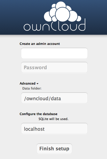 Installation owncloud
