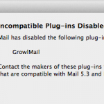 FIX : Incompatible Plug-Ins Disabled pour Growlmail 1.3.3