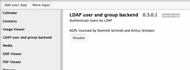 LDAP user and group backend