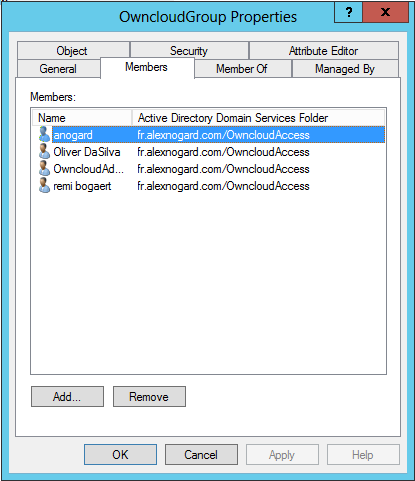 active directory owncloud