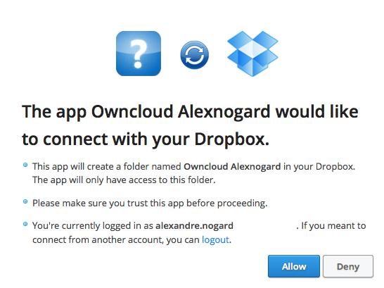 dropbox owncloud