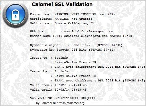 Certificat SSL Owncloud