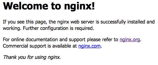 nginx start