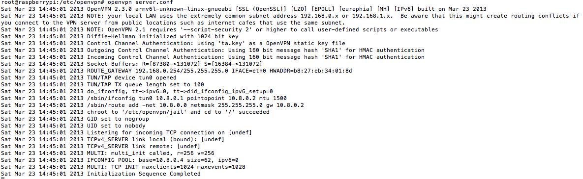 Install openVPN 2 3 on Raspberry Pi (Debian Wheezy) | AlexNogard: IT