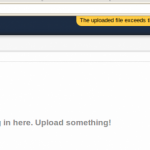 Owncloud : The files you are trying to upload exceed the maximum size for file uploads on this server.