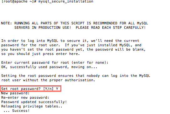 secure mysql