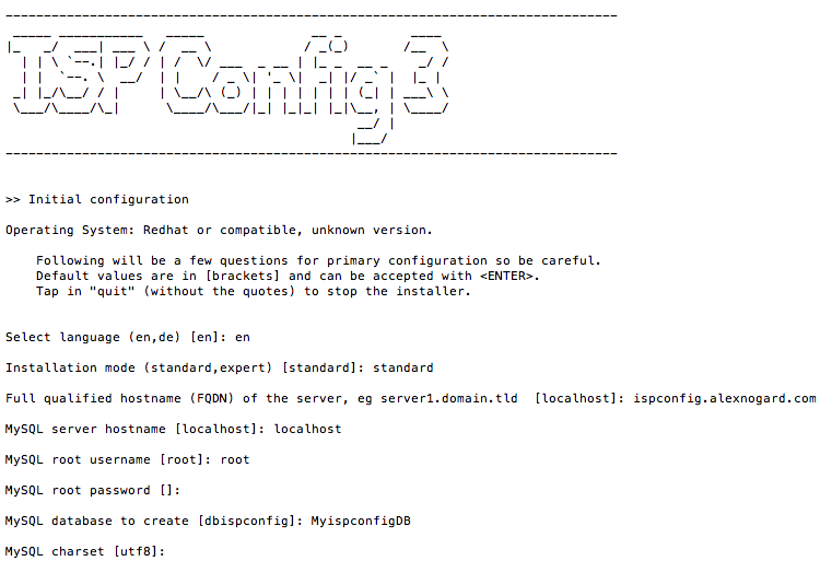 ISPConfig 3 installation